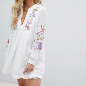 NWT Free People Mia Embroidered Dress